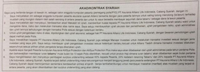 akad kontrak syariah